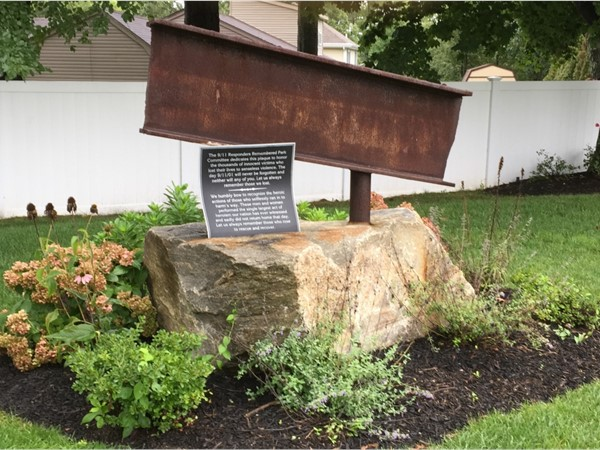 An original steel beam from the Tower