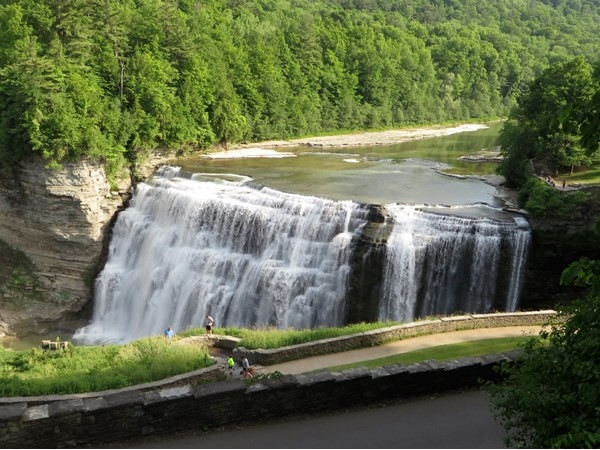 Middle Falls at Letchworth State Park near Portage