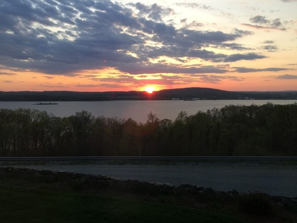 Beautiful sunset over the Hudson Valley
