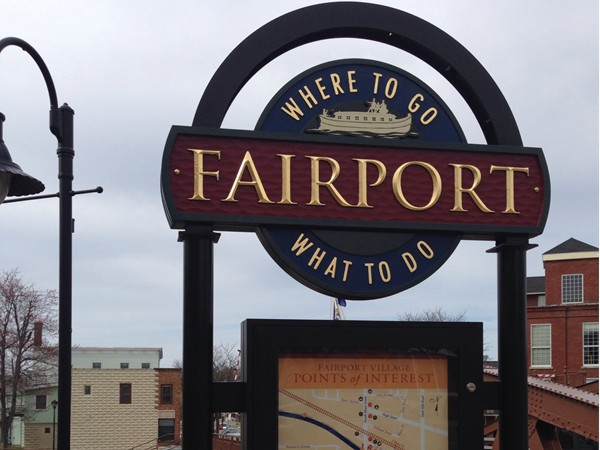 Village of Fairport located on the Erie Canal.  Bike rentals, restaurants, quaint shops and more