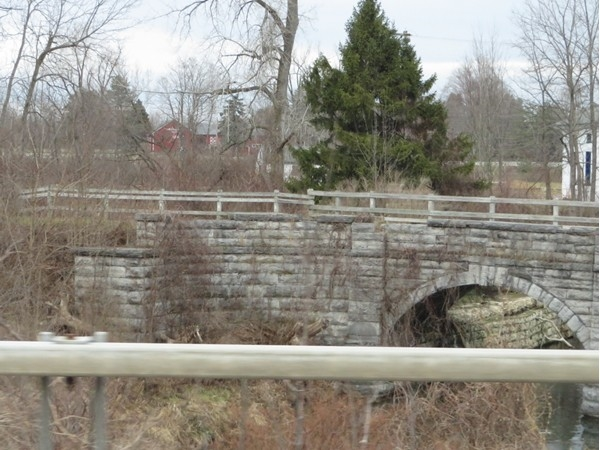 Pedestrian bridge from the park just west of the Village of Palmyra