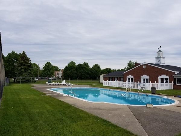 The community pool at Weathervane Condominiums