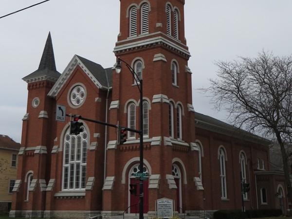 The Palmyra United Methodist Church on Church Street was built in 1870