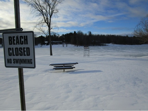 This public beach may be closed, but winter adventures are just beginning
