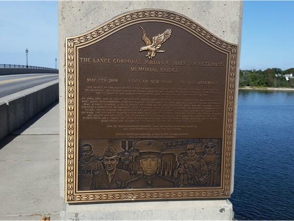 Veteran Memorial Bridge in Sag Harbor