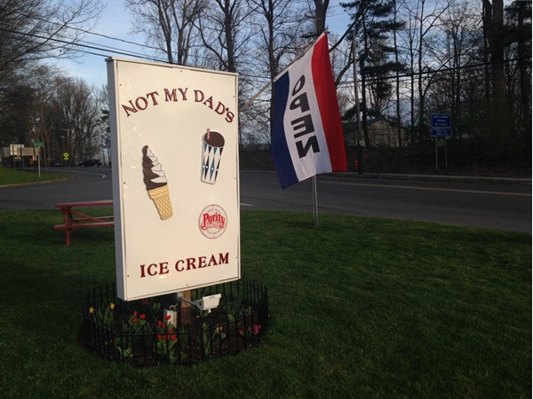 You know when spring has arrived in Trumansburg:  NMD's  (Not My Dad's) Ice Cream stand is open!