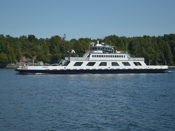 Lake Champlain Ferries links New York and Vermont with a 12 minute ferry ride