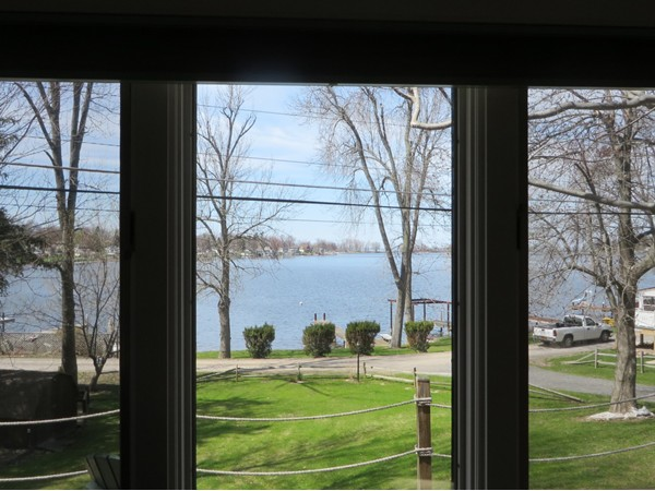 This is the view you can enjoy if you buy this waterfront home that is on the market on Port Bay