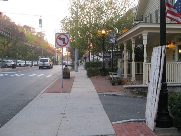 Lovely quaint old Spring Harbor Village, a former Whaling Village