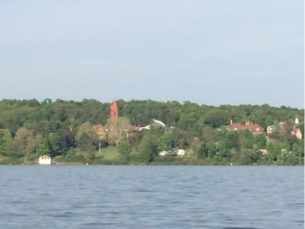 Aurora is a village on the east side of Cayuga Lake - This is Wells College Clock Tower