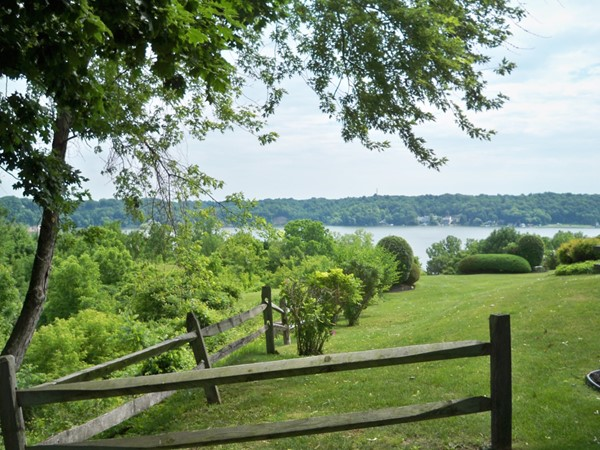 View of Irondequoit Bay from the back yard of Eagle Rock Drive in Irondequoit