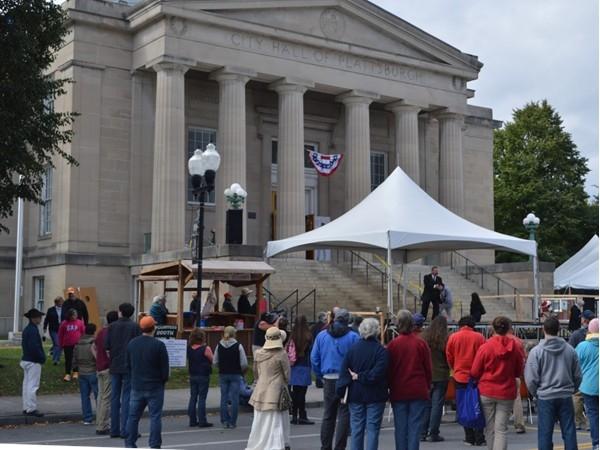 Reenactment of President Roosevelt at the Battle of Plattsburgh's 200 year celebration