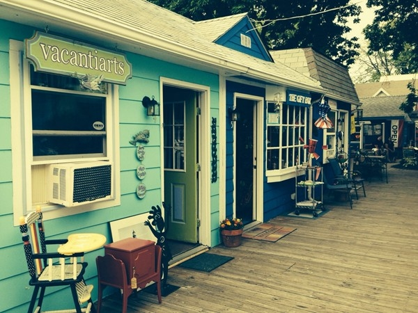 The shops in Olcott at the Lake Ontario shore are as charming as shop merchants