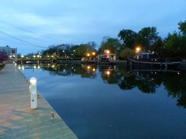 A beautiful Spring evening on the Erie Canal in Spencerport