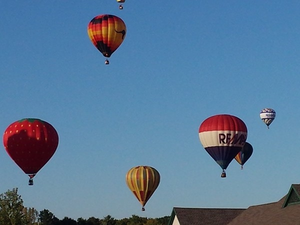 Balloon Launch at 42nd annual Balloon Fest. Take off at Floyds Bennett Memorial Airport