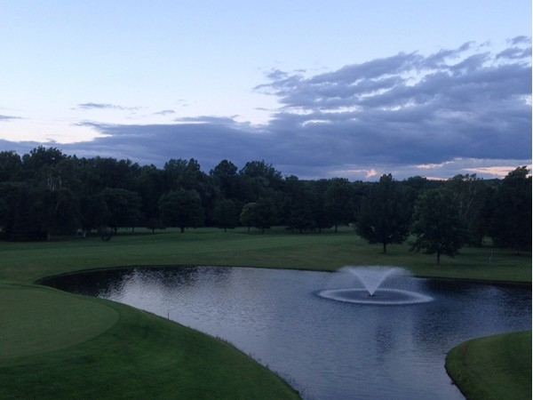 View from the Cavalry Club restaurant's deck overlooking the greens. Fore!