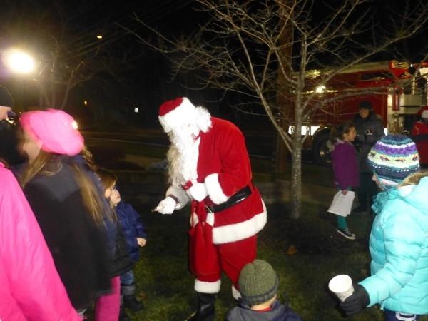 Santa at the tree lighting