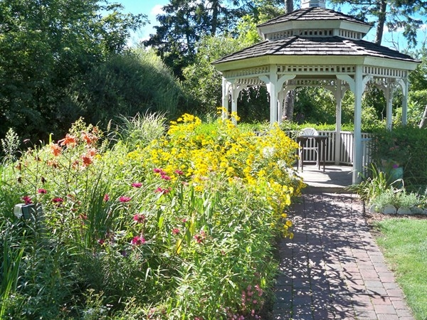 Gazebo in the gardens at the Senator's Mansion