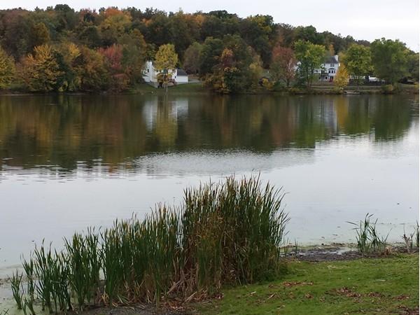 Beautiful lake view and non motorized boats in Beaver Dam Lake