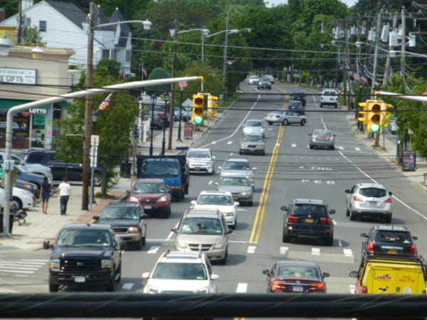 Rush hour on Wantagh Avenue.