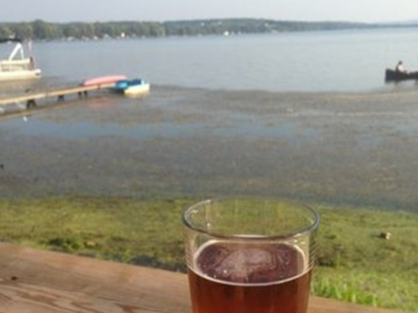 Beautiful Conesus Lake from the North Shore Grill ....