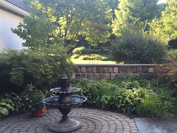 Courtyard garden in one of the Executive homes in the Graham Creek Heights subdivision