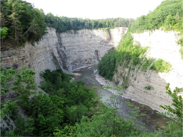 A look into the gorge of Letchworth State Park as the Genesee River cuts it way through it