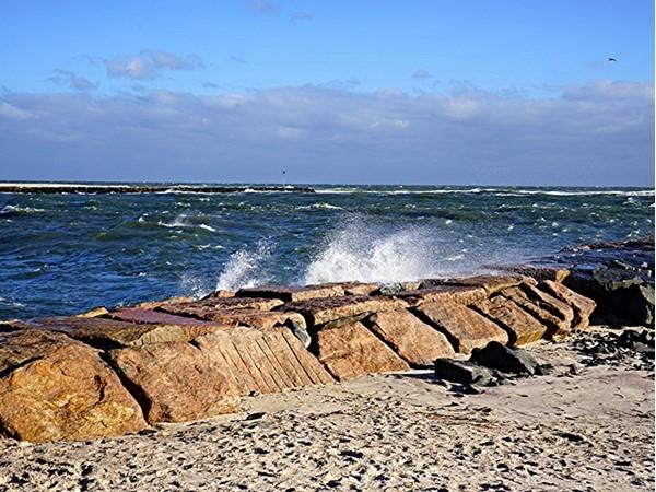 After Joaquin, Shinnecock inlet, Hampton Bays