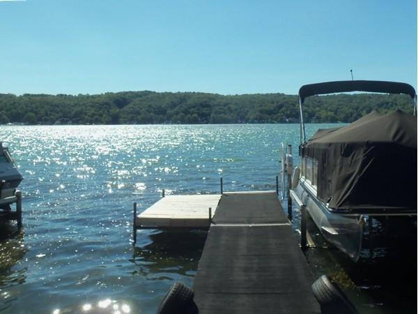 The diamonds are dancing on Conesus Lake!