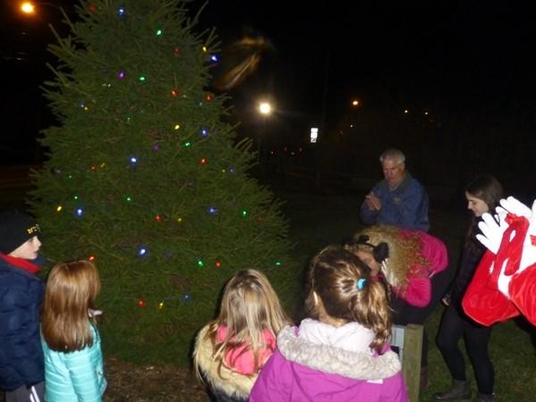 Tree lighting in Village Green