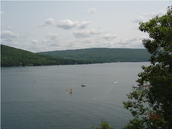 View to the south of Canandaigua Lake from the balcony at Bristol Harbour