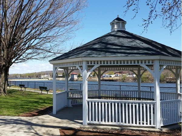 River Park Gazebo on a beautiful spring day