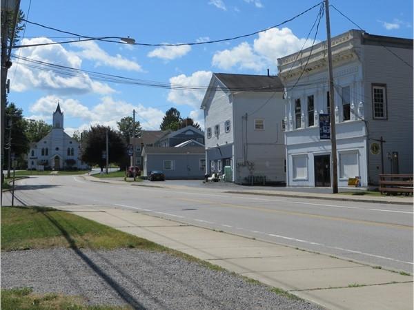 Main Street in the hamlet of Rush