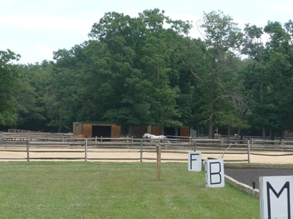 Some of the riding pens at Pal-o-Mine Riding Stables