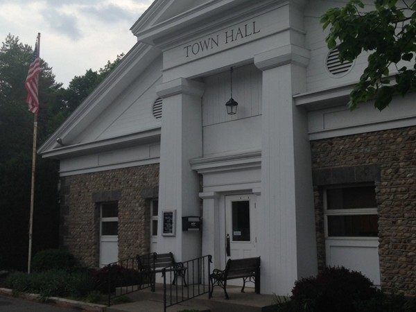 The stately town hall for the town of Ulysses in Trumansburg