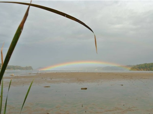 Rainbow over the Irondequoit Bay as seen from the south end of the Bay