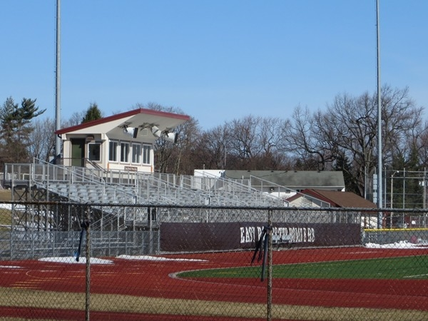 Grand stands at the East Rochester sports field