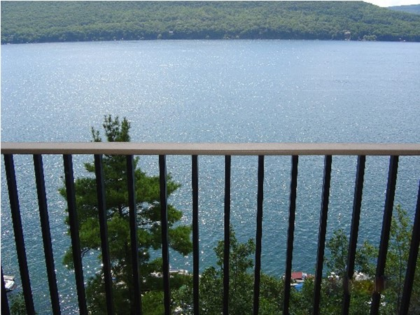 View of Canandaigua Lake from the balcony at Bristol Harbour