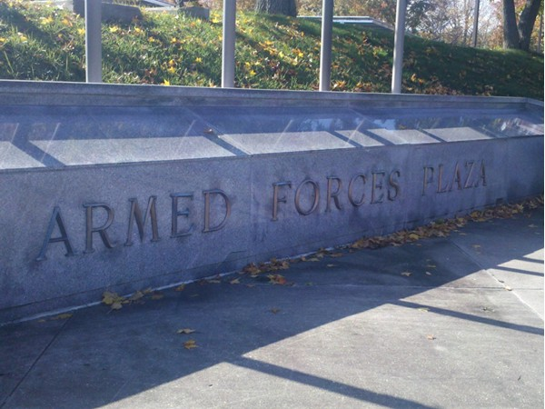 Armed Forces Plaza. A place for respectful rememberance