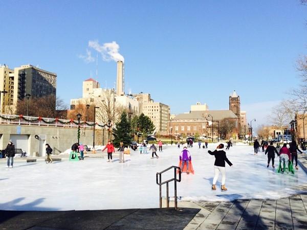 Ice skating at MLK Jr. Memorial Park downtown