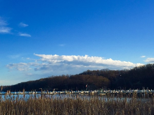 Irondequoit Bay from LaSalles Landing at the south end of the bay
