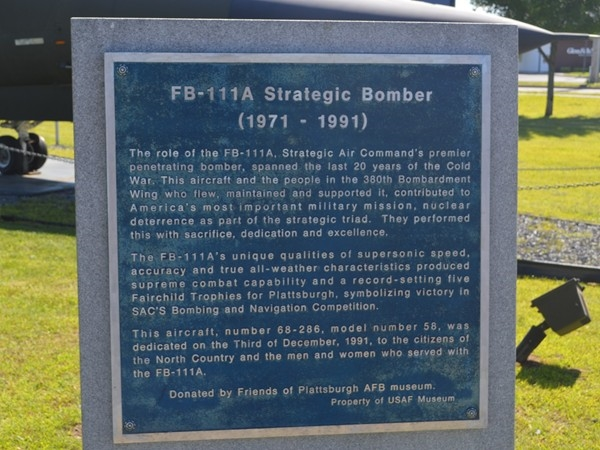 Plattsburgh used to be the Home of the Strategic Bomber for you history buffs.
