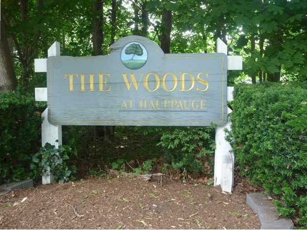 Entrance to The Woods at Hauppague