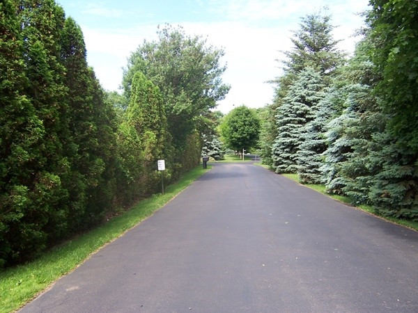 Entrance to the Graham Creek Heights Subdivision from Creek Street in Penfield