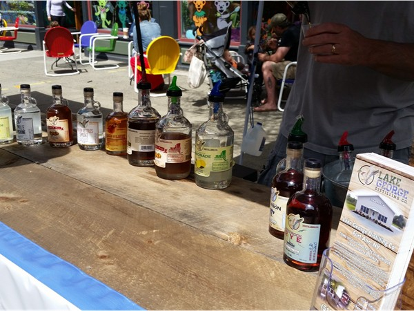 Lake George Distilling Company.  New vendor at Troy Farmers Market