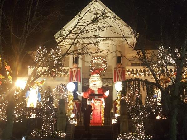 Christmas time in Dyker Heights. One of the first houses to decorate and still my favorite