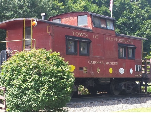 Caboose Museum in Campbell Hall