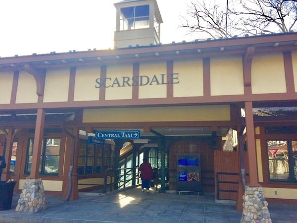 Scarsdale Station with Starbucks and taxi service