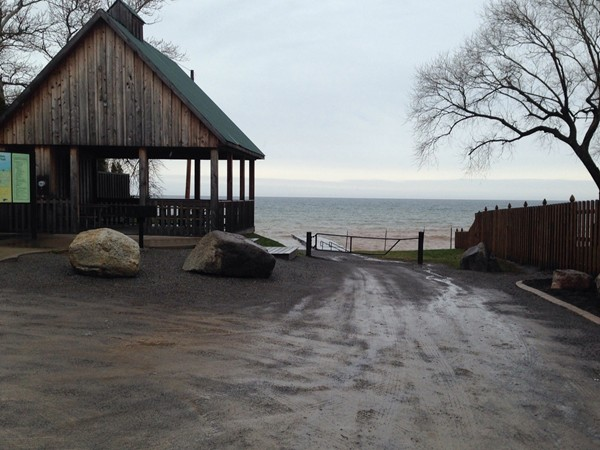 Lake Ontario waterfront at end of April.  Summer is soon.  Then?  Sailboats!
