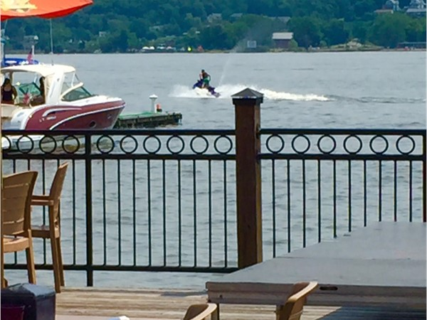 Jet skiing on the Newburgh waterfront